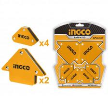Набор угольников магнитных для сварки INGCO AMWH6001