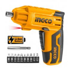 Аккумуляторная отвертка 4 В INGCO CSDLI0401