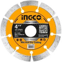 Диск алмазный отрезной сегментный 110 мм INGCO DMD011102M