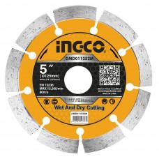 Диск алмазный отрезной сегментный 125 мм INGCO DMD011252M