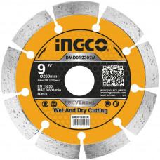 Диск алмазный отрезной сегментный 230 мм INGCO DMD012302M