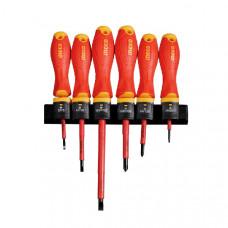 Набор диэлектрических отверток 6 шт INGCO HKISD0608 INDUSTRIAL