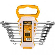 Набор комбинированных гаечных ключей с трещоткой INGCO HKSPAR1082