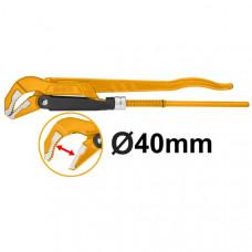 Трубный рычажный ключ 40 мм INGCO HPW04013