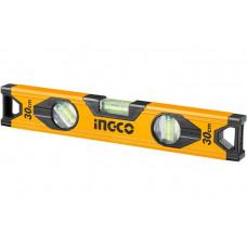 Строительный алюминиевый уровень 30 см INGCO HSL18030