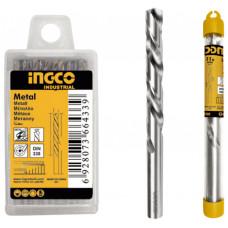 Сверло по металлу М2 HSS 8x117х75мм INGCO DBT1110801 INDUSTRIAL
