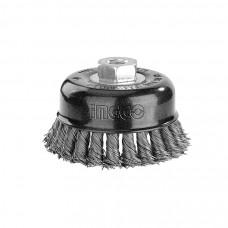 Щетка чашеобразная витая 75 мм INGCO WB20755 INDUSTRIAL