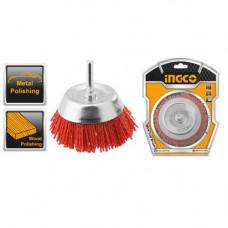 Щетка чашеобразная нейлоновая 50 мм INGCO WB30505