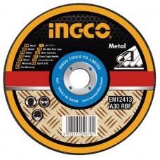 Абразивный отрезной диск по металлу 180 мм INGCO MCD301801