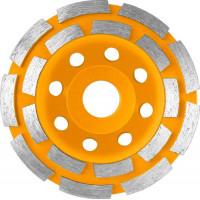 Двухрядный алмазный чашечный шлифовальный диск 115 мм INGCO CGW021151