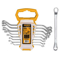 Набор накидных изогнутых гаечных ключей INGCO HKSPA3088